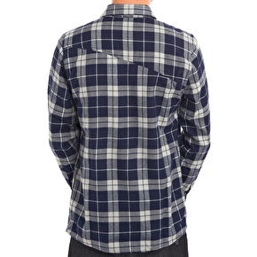 Volcom Flanibus Flannel Kids Shirt - Blue/Black
