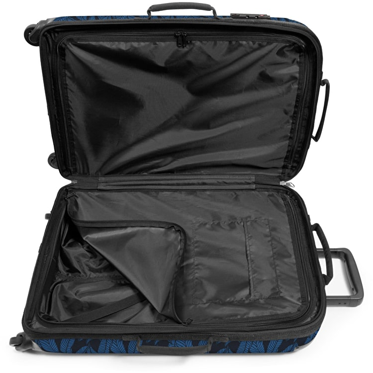 Eastpak Tranzshell M Wheeled Luggage - Leaves Blue