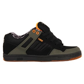 DVS Enduro 125 Skate Shoes - Black/Olive Nubuck Deegan