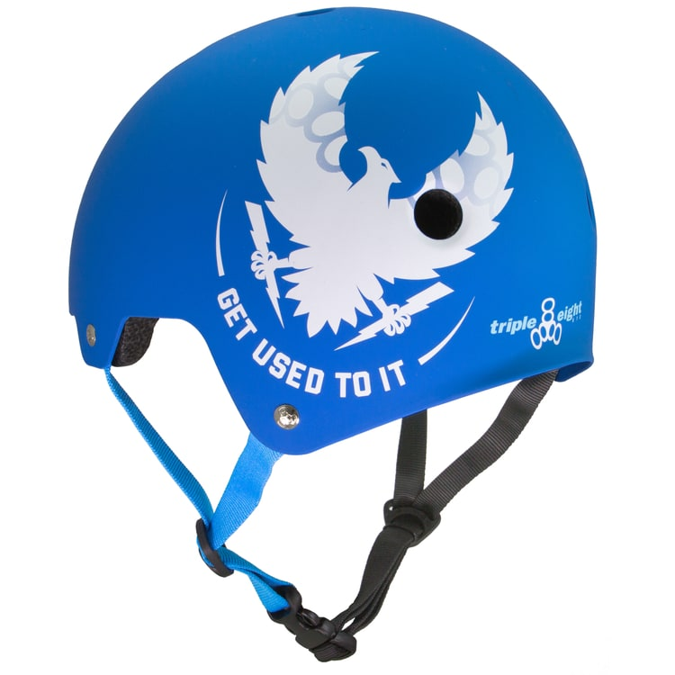 Triple 8 Brainsaver Dual Certified 'Get Used To It' Helmet - Royal Blue Rubber