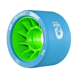 Atom Savant Roller Derby Wheels - Blue 59mm 91A