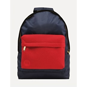 Mi-Pac Satin Mesh Backpack - Navy/Red