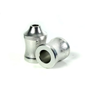 Elite Concave Scooter Pegs - Silver