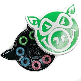 Pig Skateboard Bearings - Neon Abec 5 (Pack of 8)