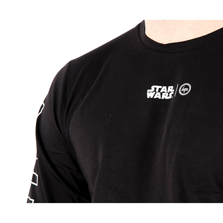 Hype Outlines Long Sleeve T Shirt - Black