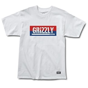 Grizzly Split Stamp T-Shirt - White