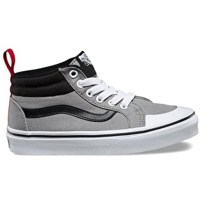 Vans Racer Mid Kids Shoes - (Canvas) Wild Dove/Black