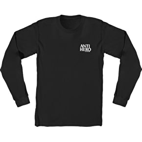 Anti Hero Lil Black Hero Longsleeve T-Shirt - Black