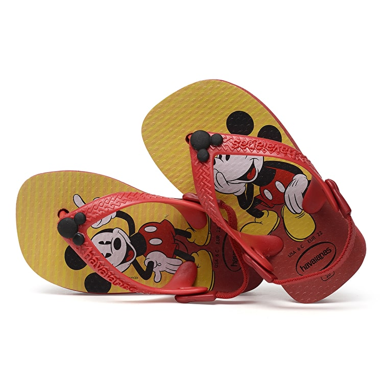Havaianas Disney Classic Kids Flip-Flops - Red/Black