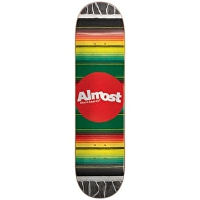 Almost Mexican Blanket R7 Skateboard Deck - Rasta 8