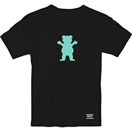 Grizzly OG Bear T Shirt - Black/Tiffany Blue