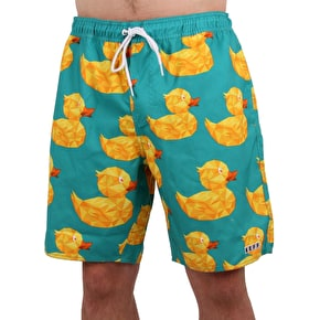 Neff Geo Duck Shorts - Teal