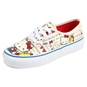 Vans Authentic Kids Shoes - (Hello Kitty) Red/White