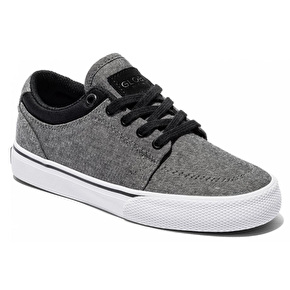 Globe GS Kids Skate Shoes - Black Chambray/White