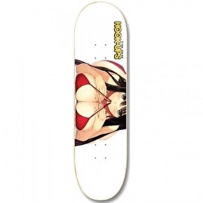 Hook-Ups Skateboard Deck - Yuki White 8.25