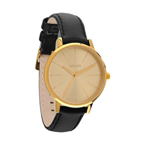 Nixon Women's Kensington Leather Watch - Gold
