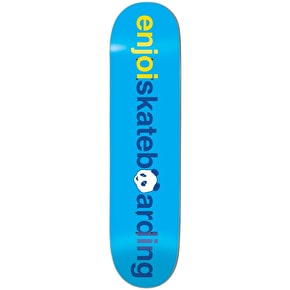 Enjoi Skateboard Deck - No Brainer V2 Blue 8.375