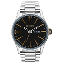 Nixon Sentry SS Watch - Black/Brass