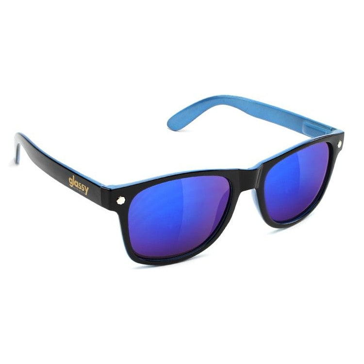 Glassy Sunhaters Leonard - Halfy Black/Blue Mirror