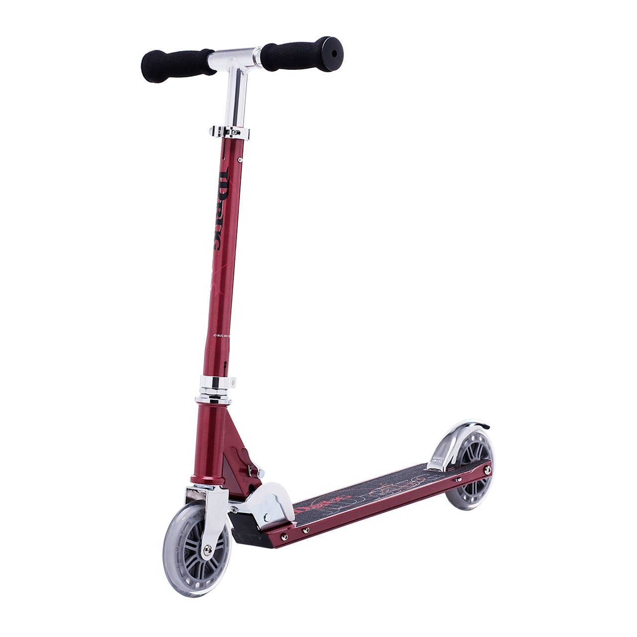 JD Bug Classic Street 120 Folding Scooter  Red Glow Pearl