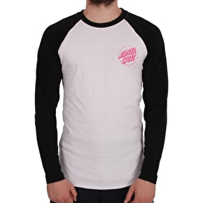Santa Cruz Party Hand Cut & Sew Baseball T-Shirt - Black/White