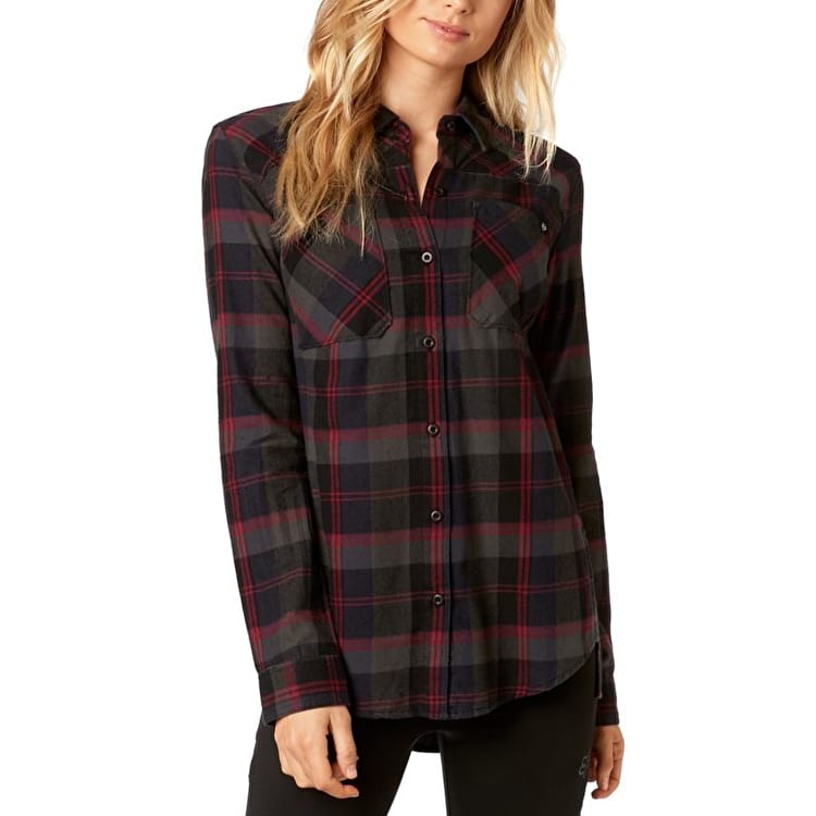 Fox Flown Womens Flannel Shirt - Midnight