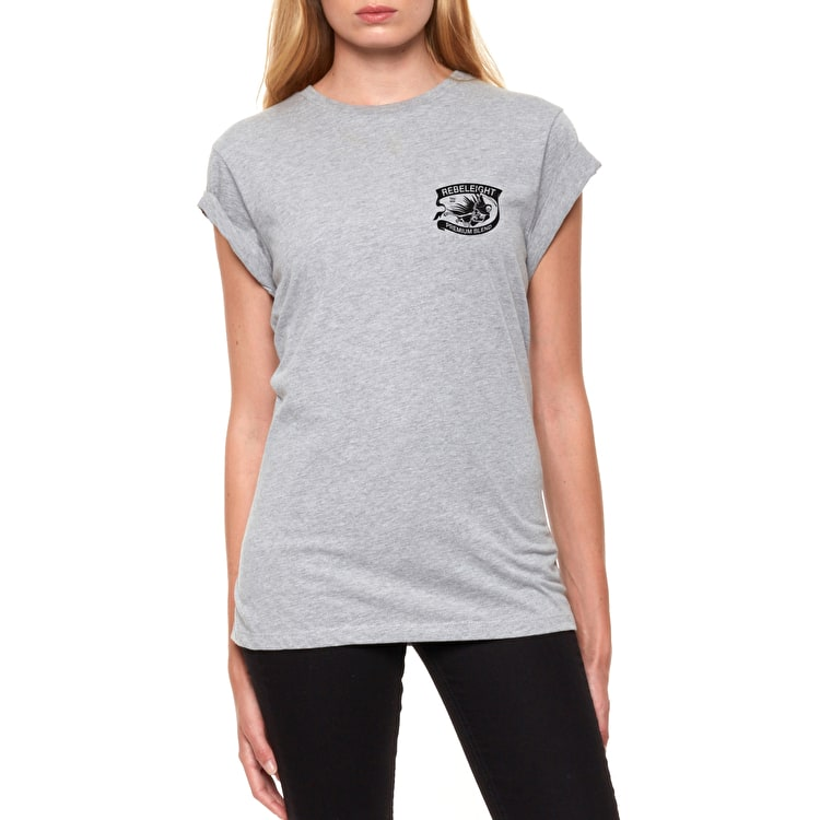 Rebel8 Premium Blend Womens T-Shirt - Heather Grey