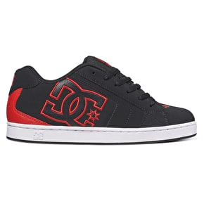 DC Net Skate Shoes - Black/Red