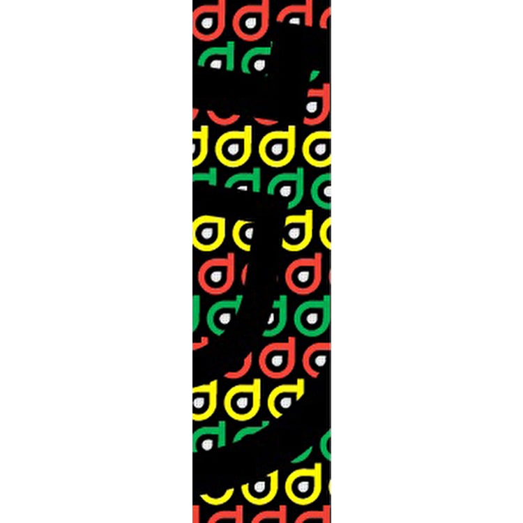 District Scooter Logo Repeat Grip Tape - Rasta