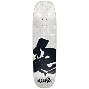 Cliche Europe Directional R7 Skateboard Deck - White/Black 8.6
