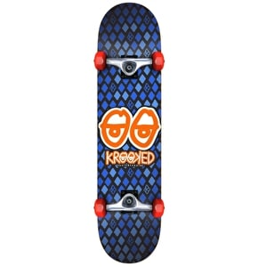 Krooked Nobel Eyes Mini Complete Skateboard - Blue 7.3