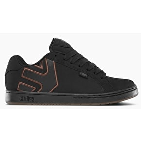 Etnies Fader Skate Shoes - Black/Silver/Gum