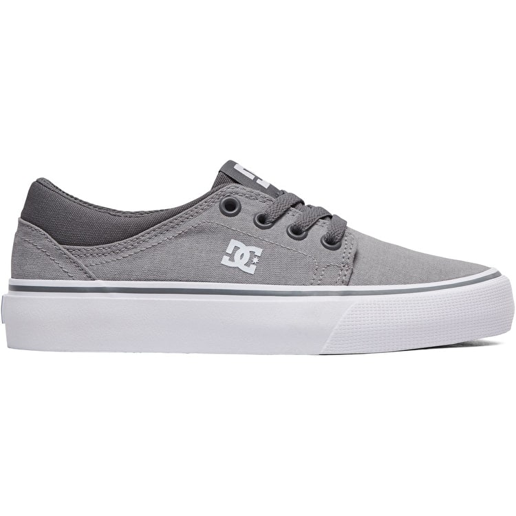 DC Trase TX SE Boys Skate Shoes - Grey  54ed0fecf66