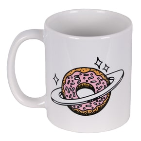 Skateboard Cafe Planet Donut Mug - White