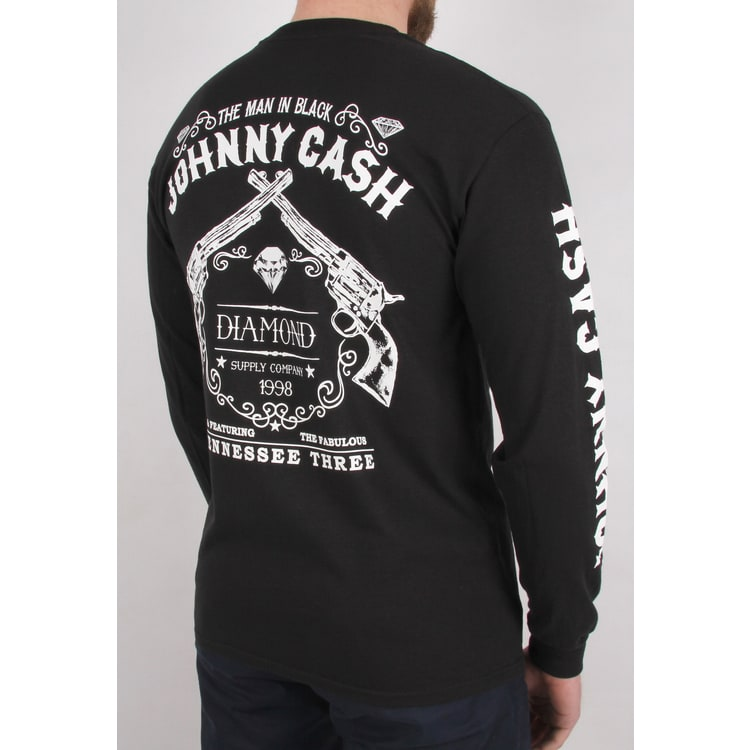 Diamond Supply Co Tennessee Three Long Sleeve T Shirt - Black