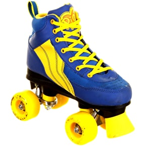 Rio Roller Pure Quad Skates - Blue/Yellow - UK Junior 12 (B-Stock)