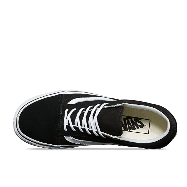 Vans Old Skool Platform Skate Shoes - Black/White
