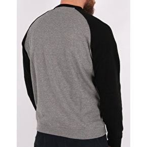Independent TC Raglan Crewneck - Black/Dark Heather