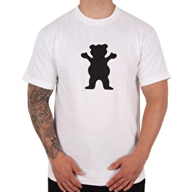 Grizzly OG Bear Logo T shirt - White