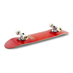 Voltage Graffiti Logo Complete Skateboard - Red 7.5