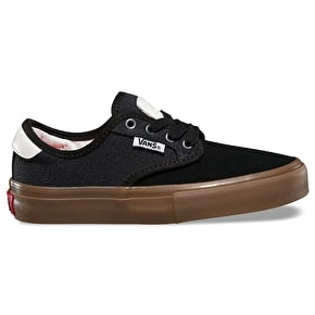 Vans Chima Ferguson Pro Kids Skate Shoes - (Covert Twill) Black