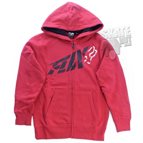 Fox kids Riptide Zip Front Fleece Hoodie - Red