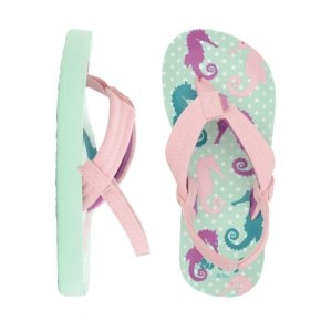 Reef Kids' Little Ahi Flip Flops - Seahorses
