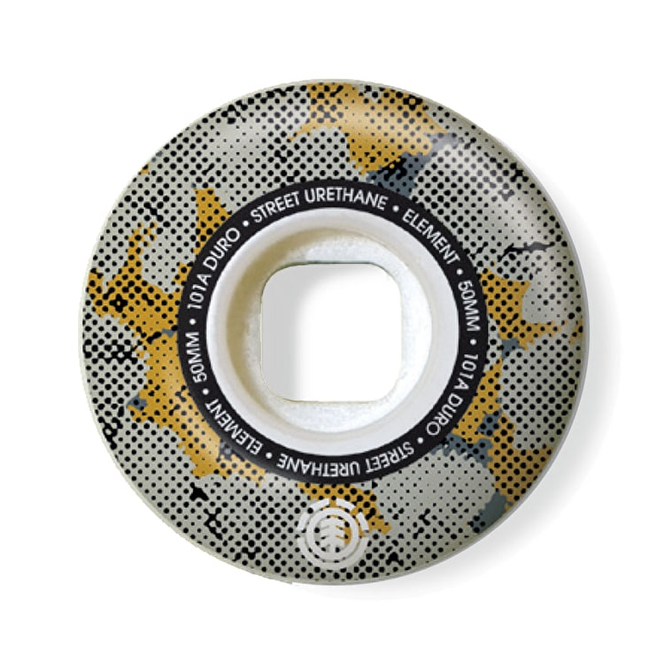 Element Skateboard Wheels - Pop Camo Street 51mm 101A (Pack of 4)