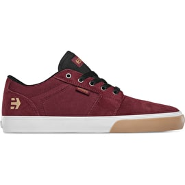 Etnies Barge LS Skate Shoes - Burgundy/Tan/White