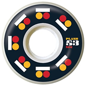 Plan B Icon Skateboard Wheels - Black/Red/Orange 53mm (Pack of 4)