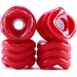 Shark Wheel Sidewinder 70mm 78a Longboard Wheels - Solid Red