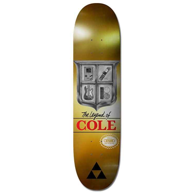 Plan B Cole Triforce Pro Spec Skateboard Deck - 8""