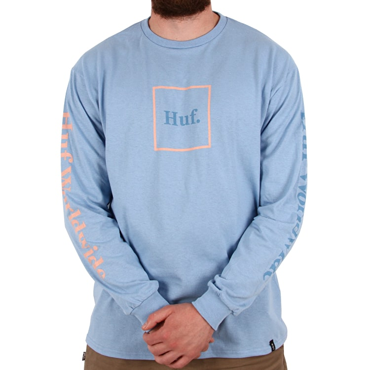 Huf Domestic Longsleeve T-Shirt - Ballad Blue