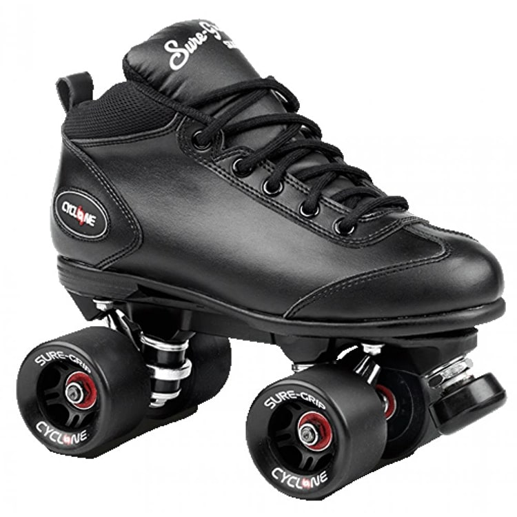 Sure-Grip Cyclone Quad Roller Skates - Black